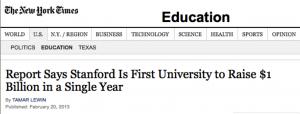 Stanford raised $1 billion/year with Big Ideas.