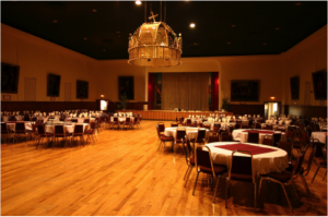 party empty ballroom
