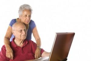 computer older-couple