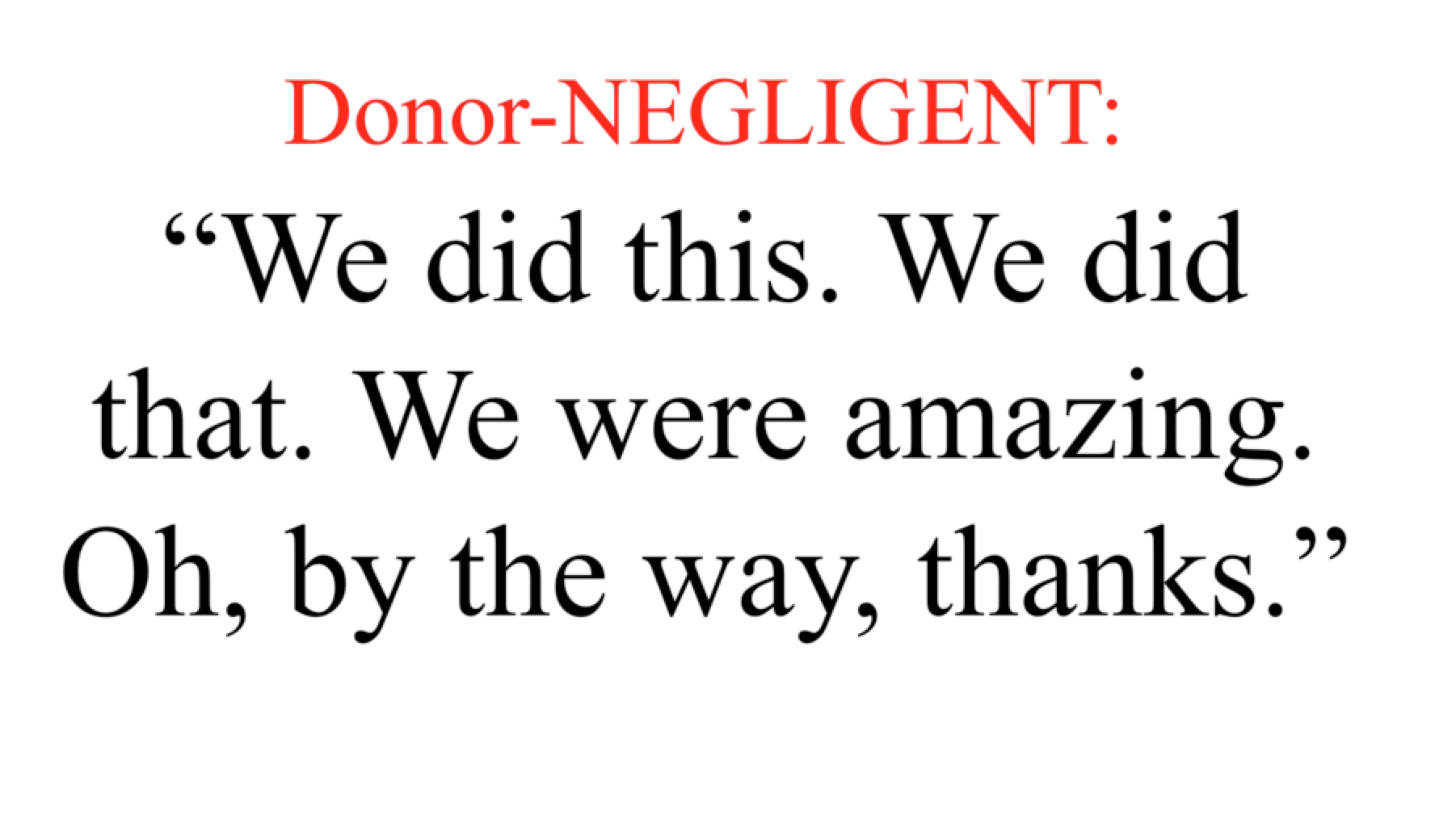 donor-negligent